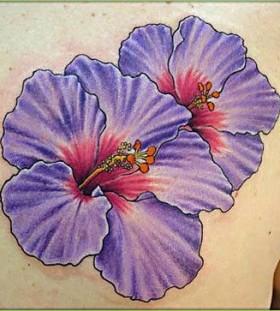 Simple purple tattoo