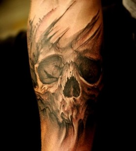 Simple skull tattoos