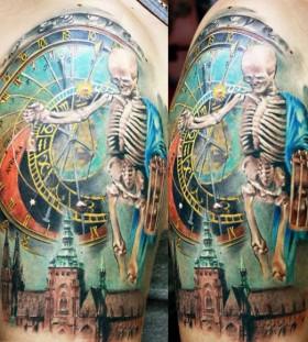 Skull tattoo by Mikky Volkova