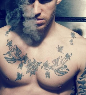 Smoke and man tattoo