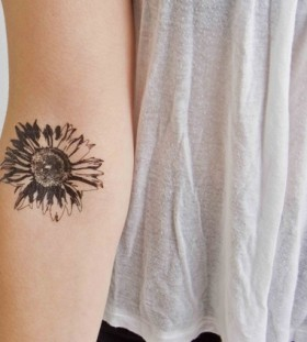 Sunflower plant tattoo