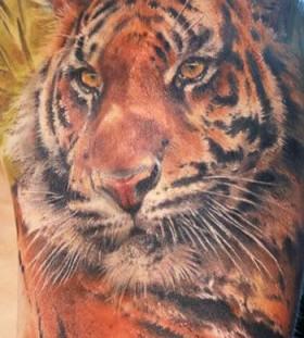 Tiger tattoo by Mikky Volkova