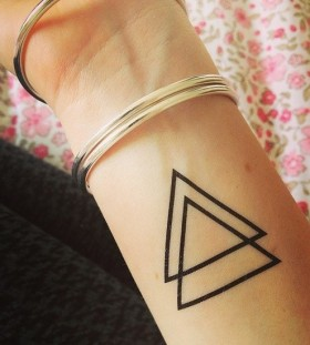 Triangle nerdy tattoos