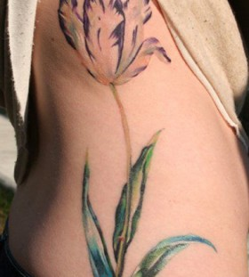 Tulip plant tattoo