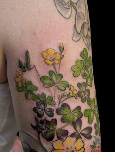 Wild flowers on the hand