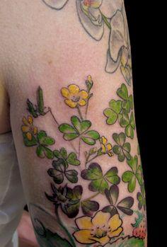Simple flowers tattoos