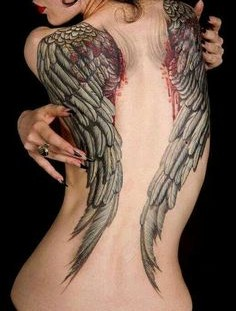 Wings with blood looks cool