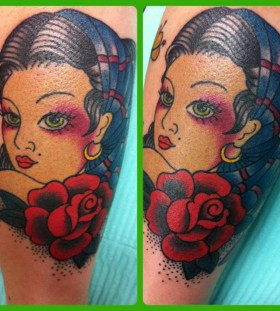 Woman tattoo by Hania Sobieski