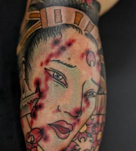 Woman tattoo by Seunghyun JO aka Potter