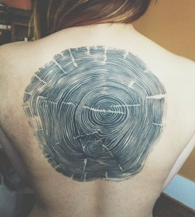 Woodcut tattoo