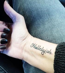 Words minimalistic style tattoo
