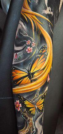 Yellow-butterflies-tattoo