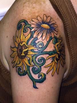 Yellow-sunflower-tattoo