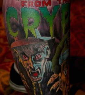 Zombies halloween tatoo