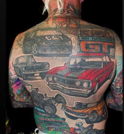 amazing car tattoos