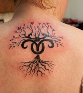 beutiful tree with aries symbol