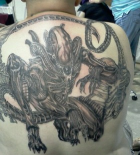 big alien tattos