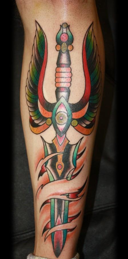 big colorful dagger