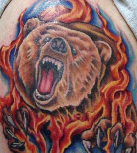 burning bear