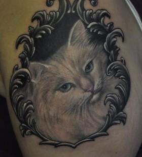 cat on bicep