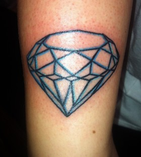 colored outline diamond
