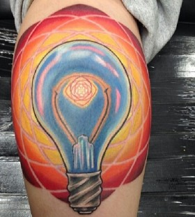 colorful bulb on leg