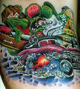 complicated car tattoos