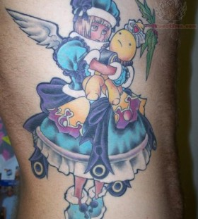 cute-anime-girl-side-rib-tattoo