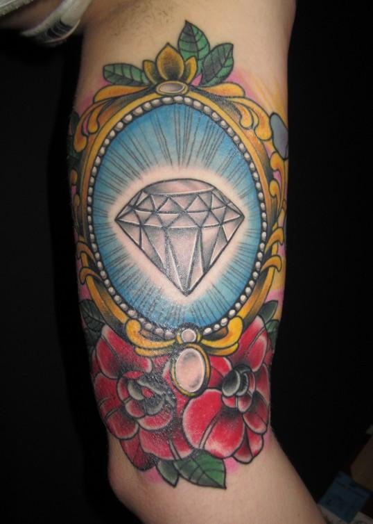 diamond in frame