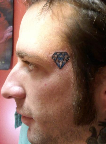 diamond on forehead