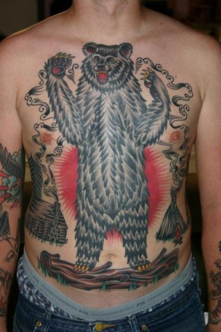 Lovely bear tattoos