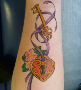 key lock sleutel slot tattoo