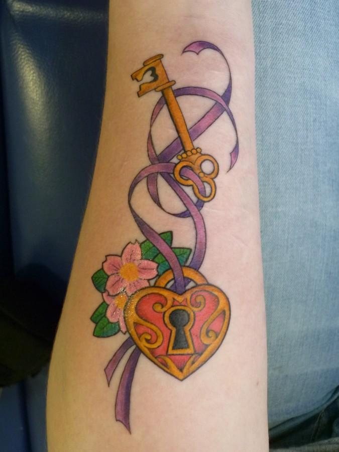 key lock sleutel slot tattoo