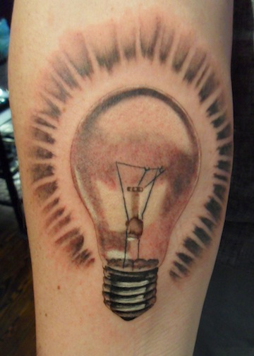 lighting bulb on arm