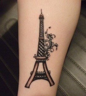 mini black Eiffel tower