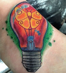 nice bulb with butterfly