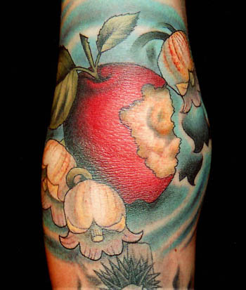 nice colored apple