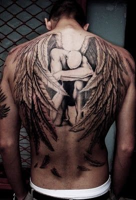 sad male angel