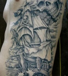 ship and skull