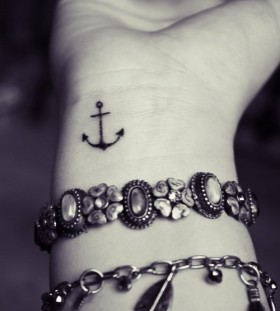 tiny anchor on wrist