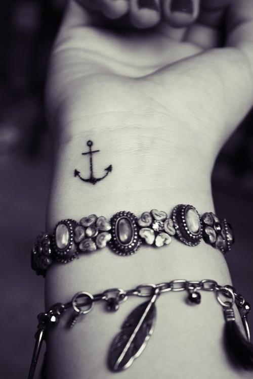 tiny anchor on wrist