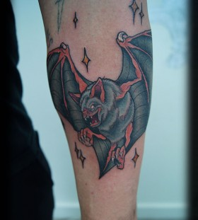 wonderful bat on leg