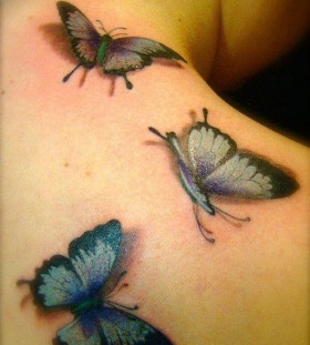 3D awesome butterfly tattoo