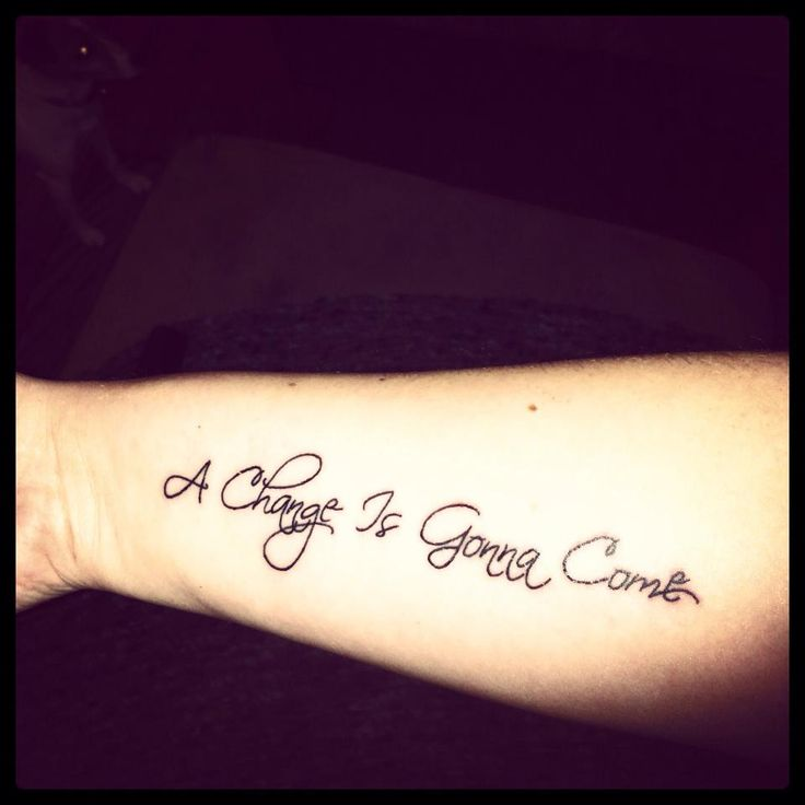 A change is good music style tattoo