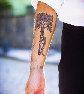 Adorable hand tree tattoo