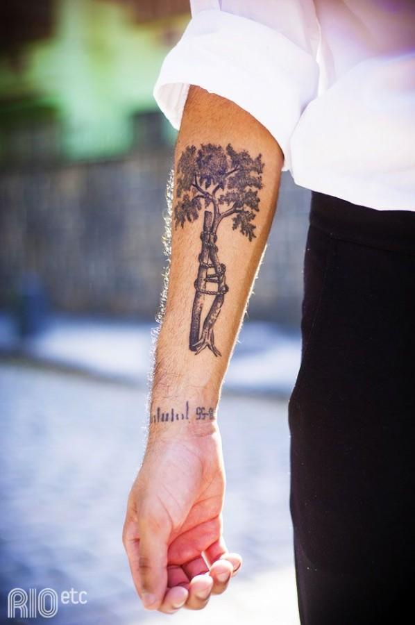 Adorable hand tree tattoo