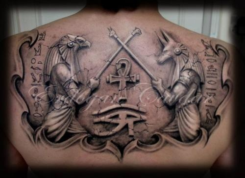 Amaizing Egypt style tattoo