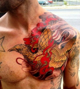 Amaizing man tattoo on chest