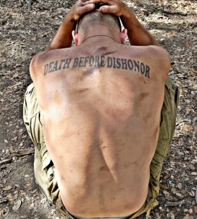 Amaizing soldier military style tattoos