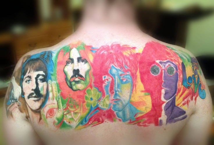 Amazing Beatles famous people tattoo